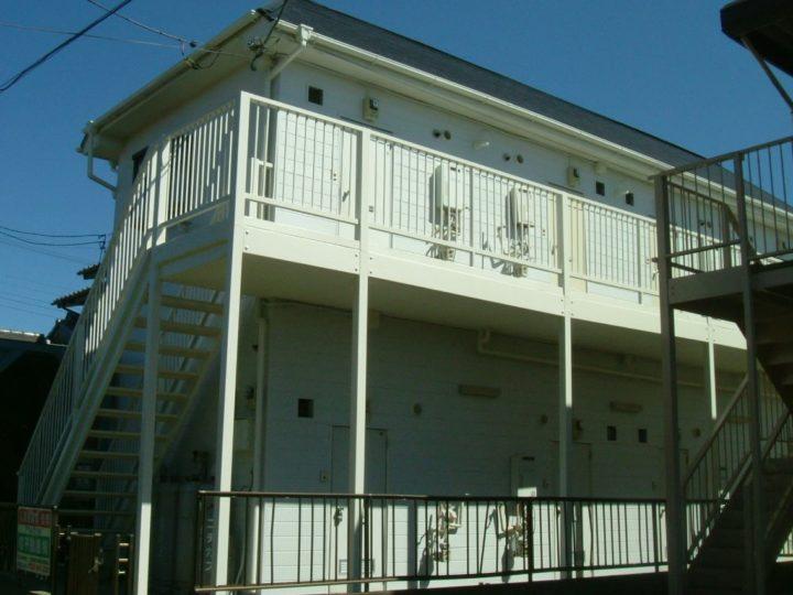 土浦市・Aアパート・外壁塗装・屋根塗装工事//茨城の土浦市・つくば市・かすみがうら市・牛久市・龍ヶ崎市・取手市・阿見町で外壁塗装・屋根塗装をするならハウスメイク牛久へ