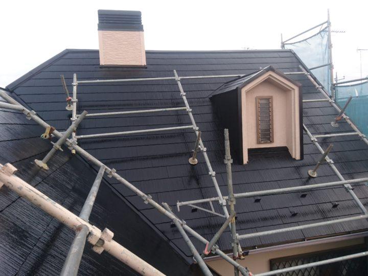 牛久市 N様邸 屋根塗装・サイディング張替え・棟板金取替工事