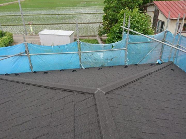屋根葺き替え工事が完了