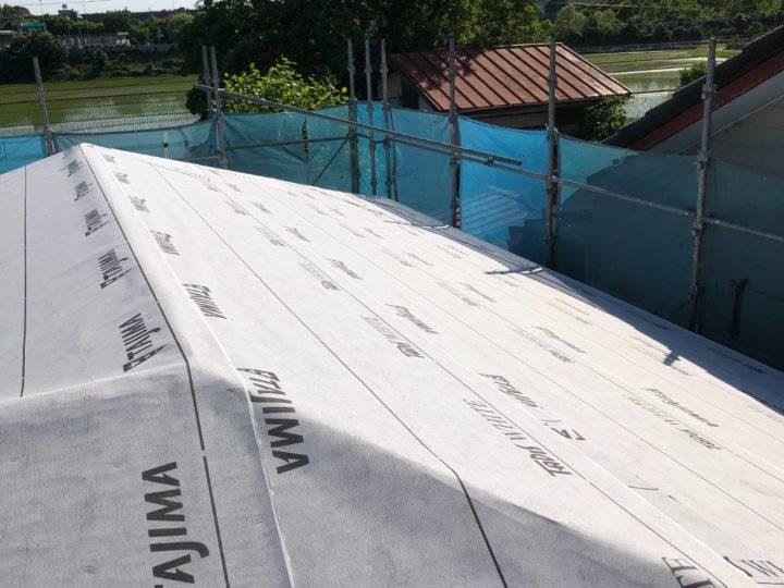 防水シート張り工事