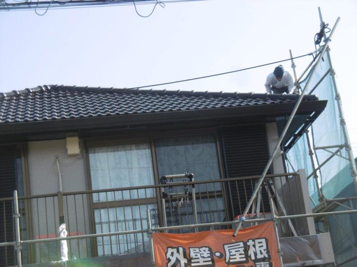 屋根の作業はお任せください。