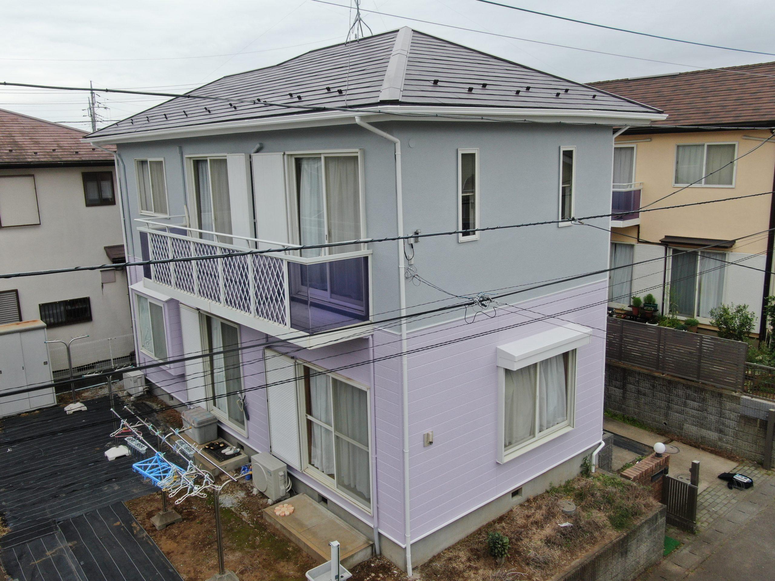 茨城県、つくば市・牛久市・土浦市・龍ヶ崎市・取手市の外壁屋根塗装はハウスメイク牛久 牛久市N様邸