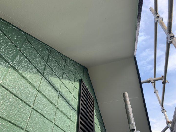軒天上塗装