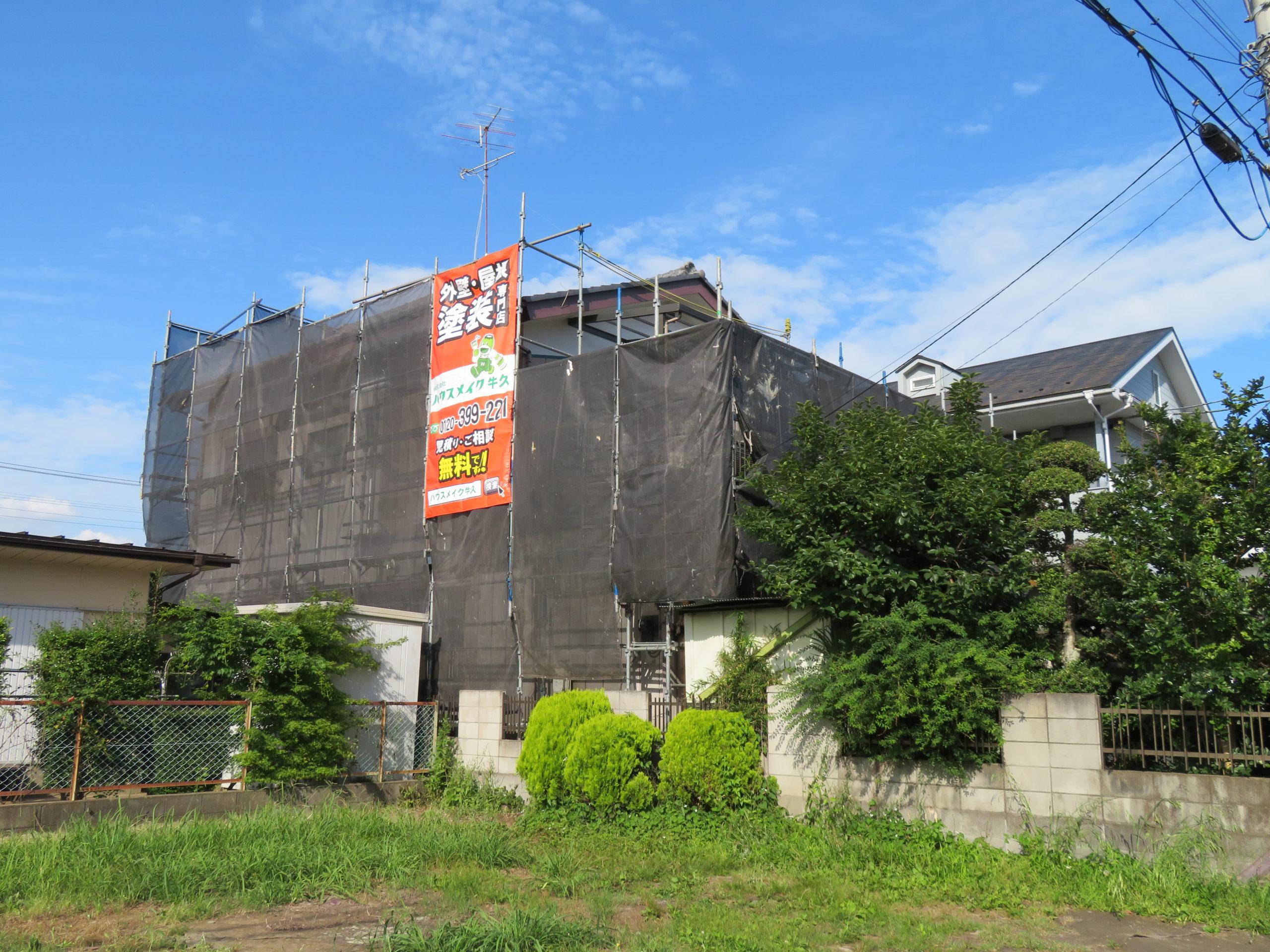 茨城県 龍ヶ崎市のT様 外壁・屋根塗装工事はハウスメイク牛久