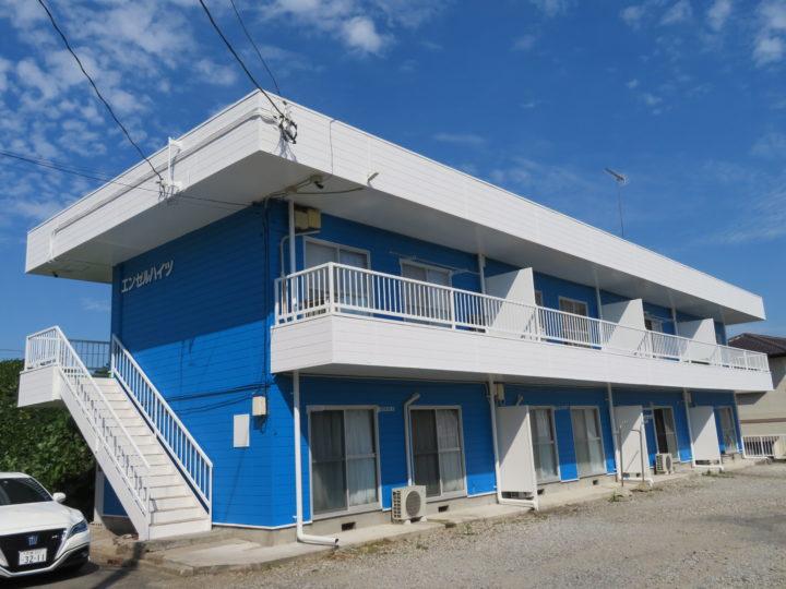 土浦市烏山 アパート外壁塗装工事 茨城県・土浦市・つくば市の塗装工事はハウスメイク牛久へ